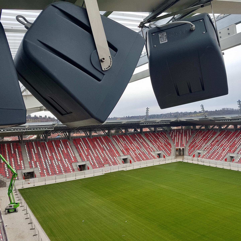 FBT SHADOW system installed at the Diósgyõri Stadion (DVTK), Miskolc, Hungary