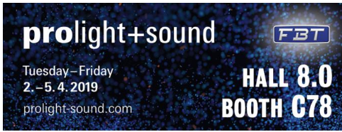 Prolight & Sound 2019